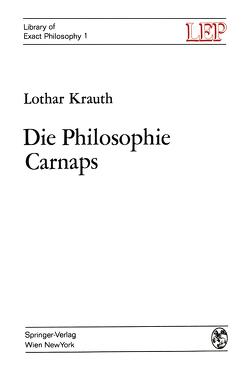Die Philosophie Carnaps von Krauth,  Lothar