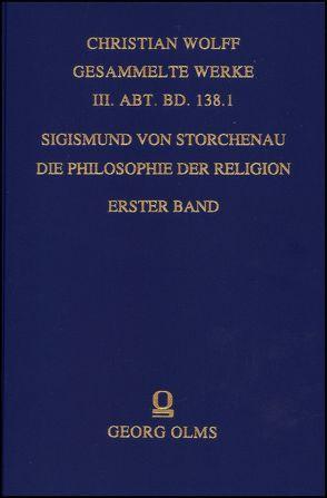 Die Philosophie der Religion von Storchenau,  Sigismund von