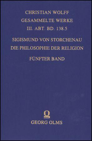 Die Philosophie der Religion. von Storchenau,  Sigismund von