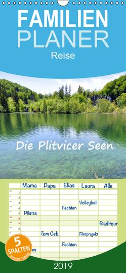 Die Plitvicer Seen – Familienplaner hoch (Wandkalender 2019 , 21 cm x 45 cm, hoch) von GUGIGEI