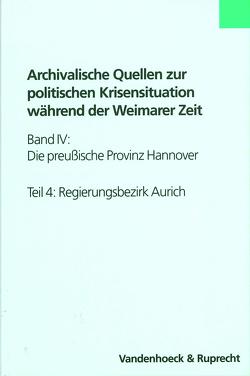 Die preußische Provinz Hannover von Hennings,  Ingrid, Parisius,  Bernhard, Uphoff,  Rolf