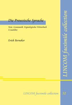 Die Preussische Sprache von Berneker,  Erich, Lüders,  Ulrich