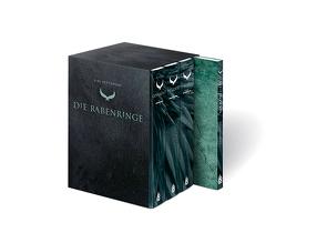 """Die Rabenringe 1-3 (Schuber mit 3 Hardcover-Bänden plus """"Making of""""-Bonusband mit Siri Pettersens persönlichen Erinnerungen und Hirkas Kräuterfibel) von Lendt,  Dagmar, Mißfeldt,  Dagmar, Pettersen,  Siri"""