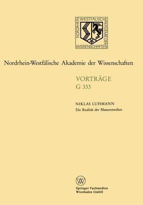 Die Realität der Massenmedien von Luhmann,  Niklas
