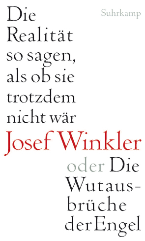 Die Realität so sagen, als ob sie trotzdem nicht wär oder Die Wutausbrüche der Engel von Winkler,  Josef