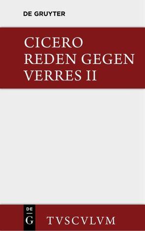 Die Reden gegen Verres / In C. Verrem von Cicero,  Marcus Tullius, Fuhrmann,  Manfred