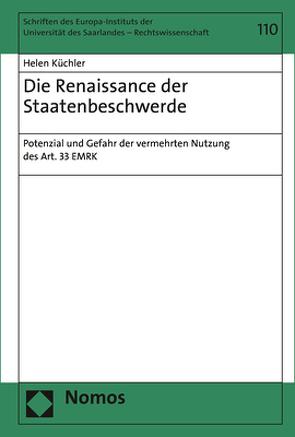 Die Renaissance der Staatenbeschwerde von Küchler,  Helen