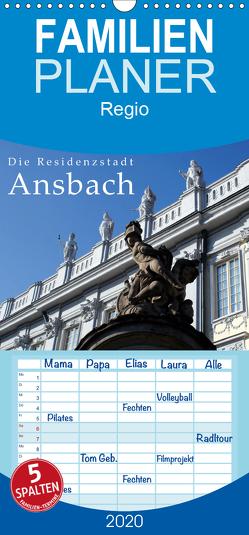 Die Residenzstadt Ansbach – Familienplaner hoch (Wandkalender 2020 , 21 cm x 45 cm, hoch) von Erbacher,  Thomas