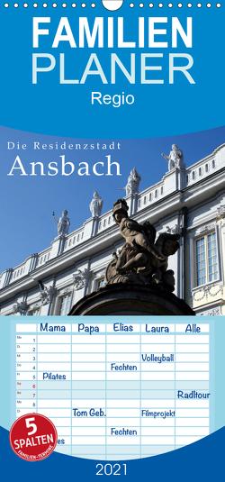 Die Residenzstadt Ansbach – Familienplaner hoch (Wandkalender 2021 , 21 cm x 45 cm, hoch) von Erbacher,  Thomas