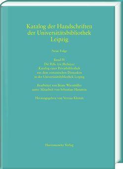 Die Rifāʿīya (Refaiya). Katalog einer Privatbibliothek aus dem osmanischen Damaskus in der Universitätsbibliothek Leipzig von Hanstein,  Sebastian, Klemm,  Verena, Wiesmüller,  Beate