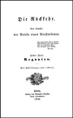 Die Rückkehr von Pückler-Muskau,  Hermann Ludwig Heinrich Von
