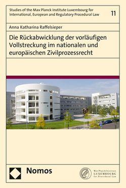 Die Rückabwicklung der vorläufigen Vollstreckung im nationalen und europäischen Zivilprozessrecht von Raffelsieper,  Anna Katharina
