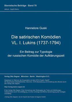 Die satirischen Komödien VL. I. Lukins (1737-1794) von Guski,  Hannelore