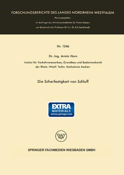 Die Scherfestigkeit von Schluff von Horn,  Armin