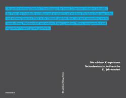 Die schönen Kriegerinnen von Grammatikopoulou,  Christina, hvale vale, Kallfelz,  Andreas, Mennel,  Birgit, Sena,  Isabel de, Snelting,  Femke, Sollfrank,  Cornelia, Spideralex, Steidinger,  Anja, Toupin,  Sophie, Volkart,  Yvonne
