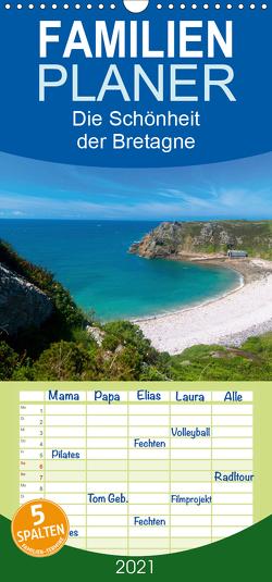 Die Schönheit der Bretagne – Familienplaner hoch (Wandkalender 2021 , 21 cm x 45 cm, hoch) von Voigt,  Tanja