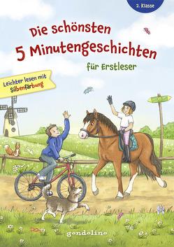 Die schönsten 5 Minutengeschichten für Erstleser (Mädchen Jungen), 2. Klasse – Leichter lesen mit Silbenfärbung – Kinderbücher ab 7-8 Jahre von gondolino Erstleser