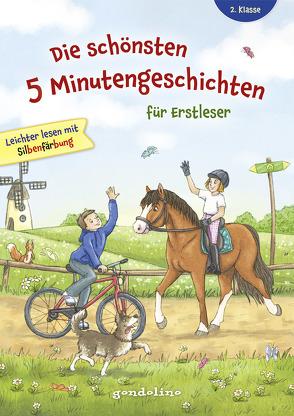 Die schönsten 5 Minutengeschichten für Erstleser (Mädchen Jungen), 2. Klasse – Leichter lesen mit Silbenfärbung – Kinderbücher ab 7-8 Jahre