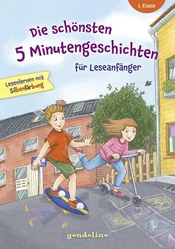 Die schönsten 5 Minutengeschichten für Leseanfänger (Mädchen Jungen), 1. Klasse – Lesenlernen mit Silbenfärbung – Kinderbücher ab 6-7 Jahre von gondolino Lesenlernen
