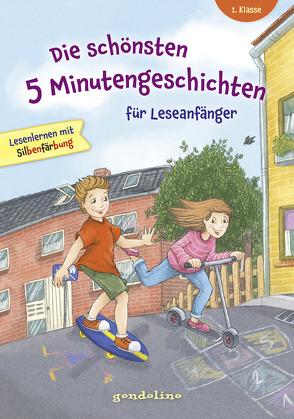 Die schönsten 5 Minutengeschichten für Leseanfänger (Mädchen Jungen), 1. Klasse – Lesenlernen mit Silbenfärbung – Kinderbücher ab 6-7 Jahre