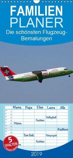 Die schönsten Flugzeug-Bemalungen – Familienplaner hoch (Wandkalender 2019 , 21 cm x 45 cm, hoch) von Heilscher,  Thomas