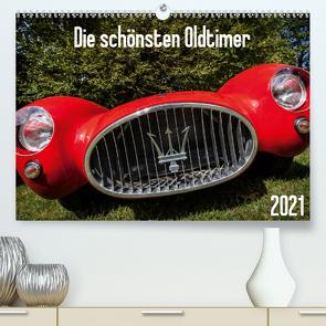 Die schönsten Oldtimer 2021 (Premium, hochwertiger DIN A2 Wandkalender 2021, Kunstdruck in Hochglanz) von Anker,  Stefan
