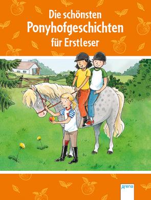 Die schönsten Ponyhofgeschichten für Erstleser von Kaup,  Ulrike, Krautmann,  Milada, Reichenstetter,  Friederun, Zoschke,  Barbara