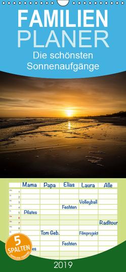 Die schönsten Sonnenaufgänge – Familienplaner hoch (Wandkalender 2019 , 21 cm x 45 cm, hoch) von Dumke,  Andreas