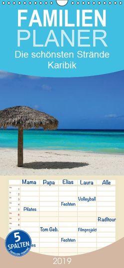 Die schönsten Strände Karibik – Familienplaner hoch (Wandkalender 2019 , 21 cm x 45 cm, hoch) von M.Polok