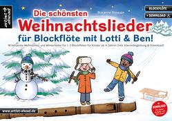 Die schönsten Weihnachtslieder für Blockflöte mit Lotti & Ben! von Hossain,  Susanne