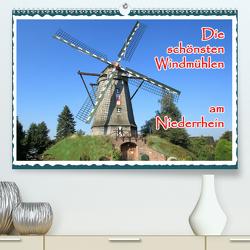 Die schönsten Windmühlen am Niederrhein (Premium, hochwertiger DIN A2 Wandkalender 2020, Kunstdruck in Hochglanz) von Jaeger,  Michael, mitifoto