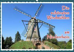 Die schönsten Windmühlen am Niederrhein (Wandkalender 2019 DIN A2 quer) von Jaeger,  Michael, mitifoto