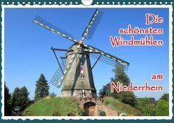Die schönsten Windmühlen am Niederrhein (Wandkalender 2019 DIN A4 quer) von Jaeger,  Michael, mitifoto