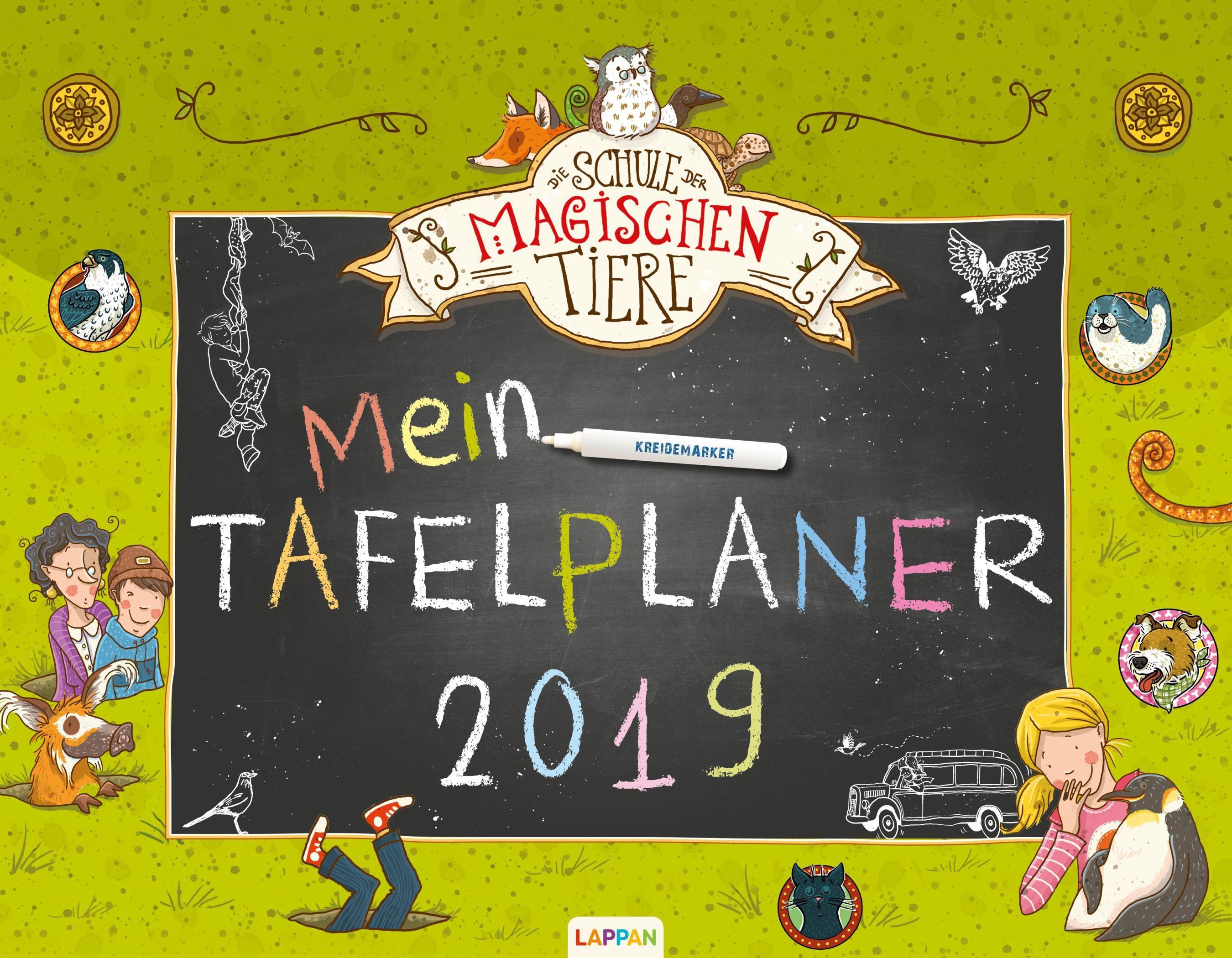 Die Schule der magischen Tiere Mein Tafelplaner 2019 von Auer, Margit,