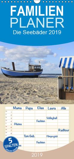 Die Seebäder 2019 – Familienplaner hoch (Wandkalender 2019 , 21 cm x 45 cm, hoch) von Fuchs,  Susanne