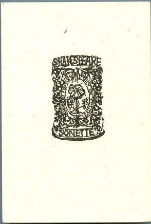 Die Sonette von Philipps,  Gerd, Shakespeare,  William