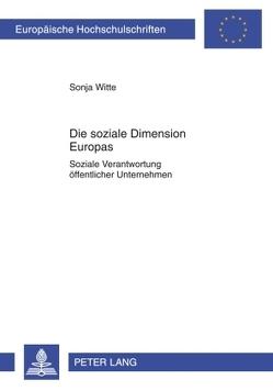 Die soziale Dimension Europas von Witte,  Sonja