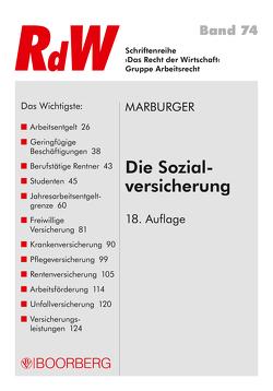 Die Sozialversicherung von Marburger,  Horst