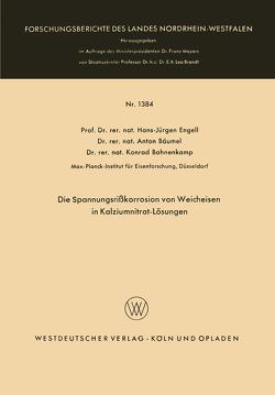 Die Spannungsrißkorrosion von Weicheisen in Kalziumnitrat-Lösungen von Engell,  Hans-Jürgen