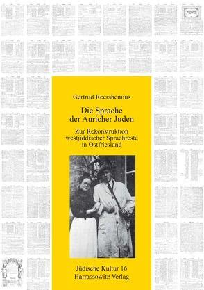 Die Sprache der Auricher Juden von Reershemius,  Gertrud