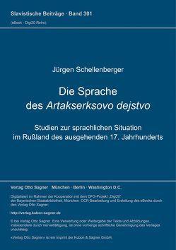 Die Sprache des Artakserksovo dejstvo von Schellenberger,  Jürgen