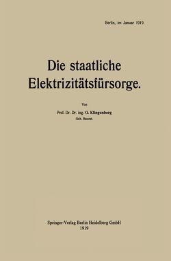 Die staatliche Elektrizitätsfürsorge von Klingenberg,  Georg