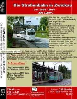 Die Straßenbahn in Zwickau von Herr,  Andreas, TRAM-aktuell Filmproduktion und Vertrieb