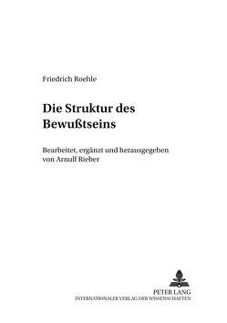 Die Struktur des Bewußtseins von Rieber,  Arnulf