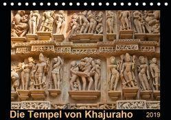 Die Tempel von Khajuraho (Tischkalender 2019 DIN A5 quer) von N.,  N.