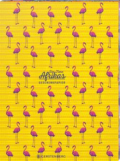Die Tiere Afrikas Geschenkpapier-Heft Motiv Flamingo von Schöll,  Stephan