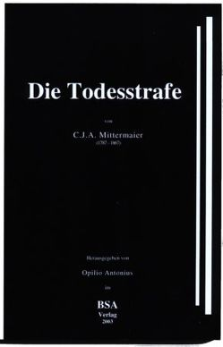 Die Todesstrafe von Mittermaier,  Carl J, Opilio,  Antonius