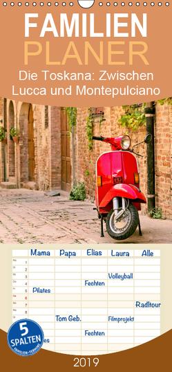 Die Toskana: Zwischen Lucca und Montepulciano – Familienplaner hoch (Wandkalender 2019 , 21 cm x 45 cm, hoch) von CALVENDO