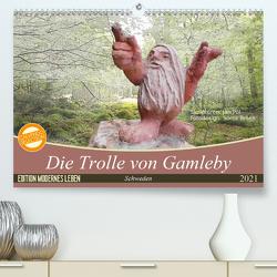 Die Trolle von Gamleby – Schweden – Skulpturen von Jan Pol (Premium, hochwertiger DIN A2 Wandkalender 2021, Kunstdruck in Hochglanz) von Teßen,  Sonja