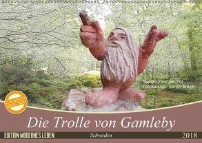 Die Trolle von Gamleby – Schweden – Skulpturen von Jan Pol (Wandkalender 2018 DIN A2 quer) von Teßen,  Sonja